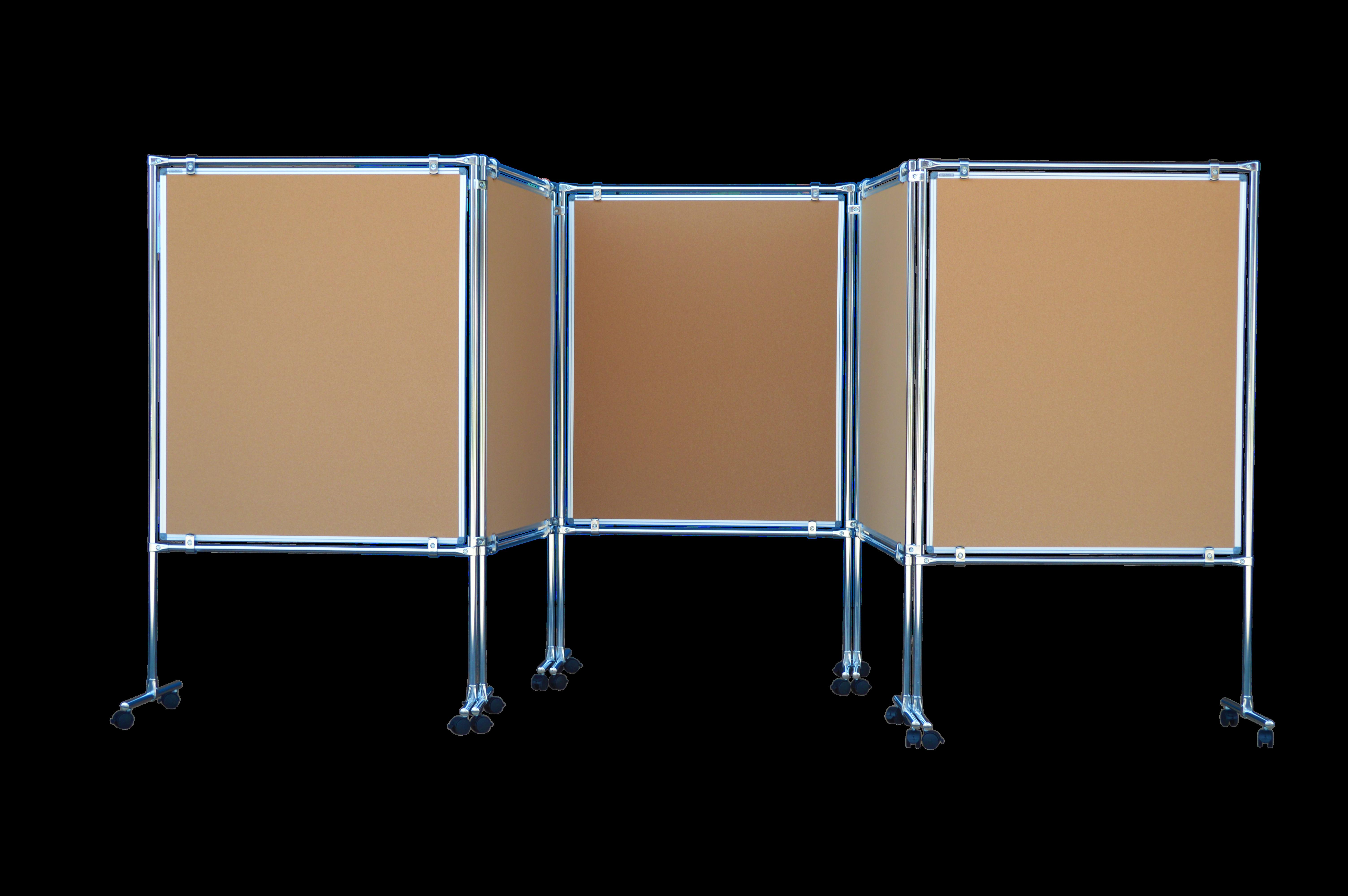 Genialny Parawan korkowy dwustronny 170x100 rama aluminiowa 5 elementowy RN45